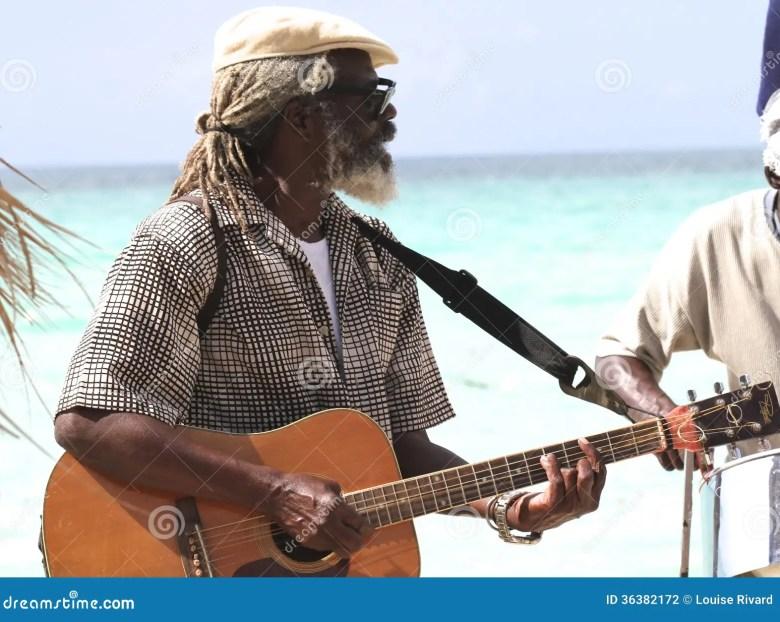 jamaican musician editorial photography. image of guitar - 36382172