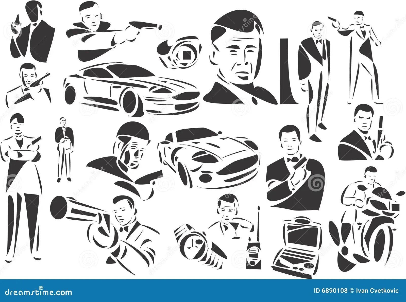 James Bond Royalty Free Stock Photos