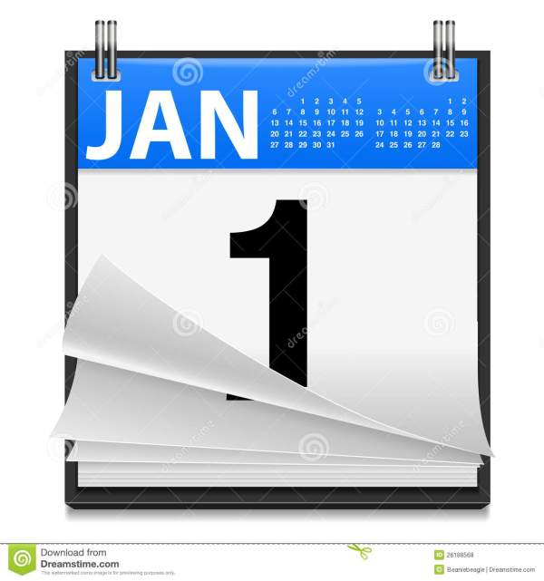 January 1st New Year Icon stock vector. Illustration of ...