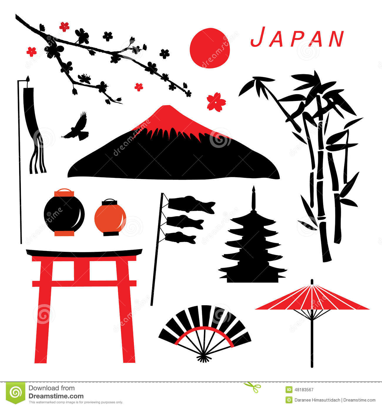 Japan Travel Icon Design Vector Stock Vector