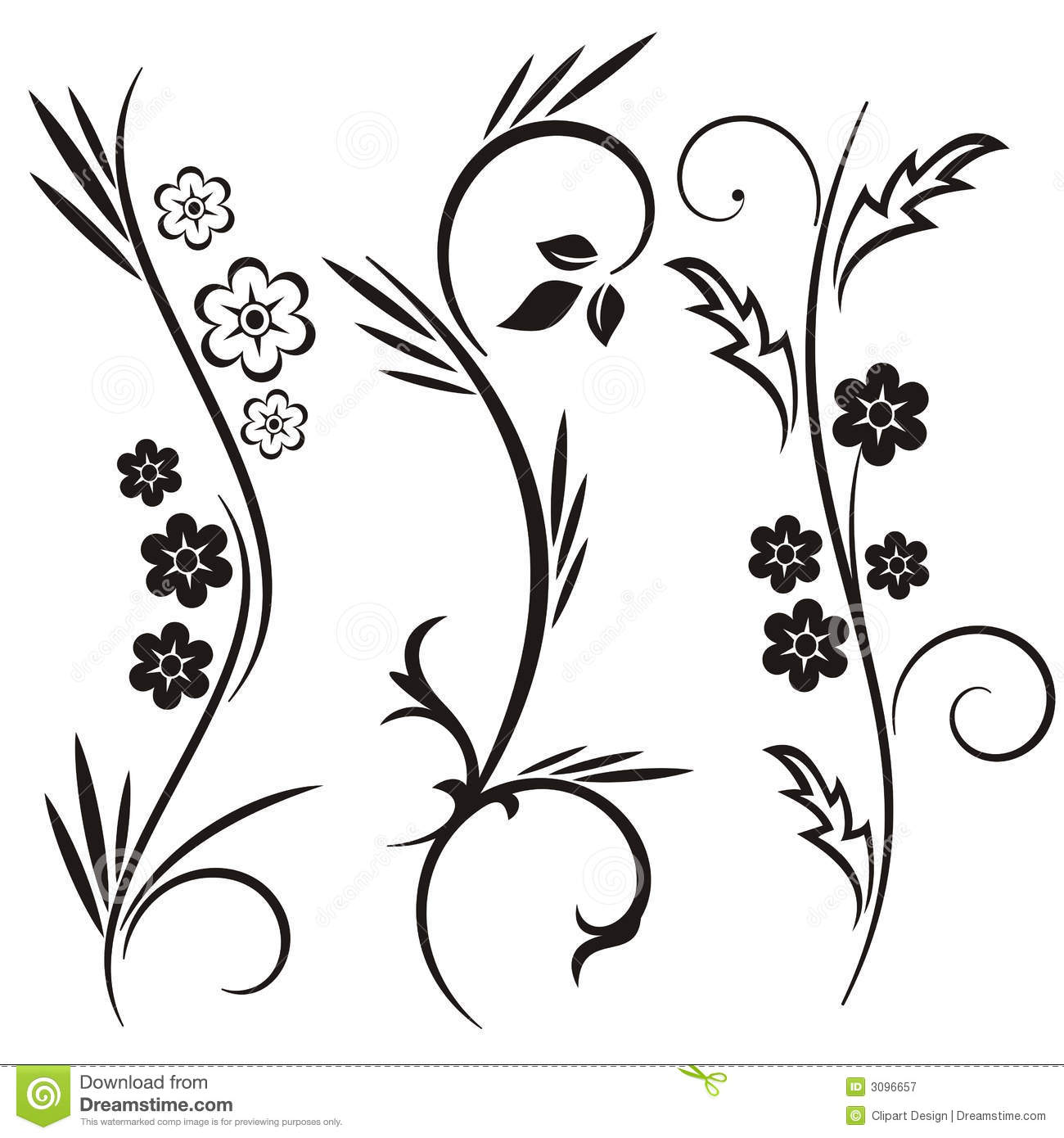 Japanese Floral Design Series Royalty Free Stock
