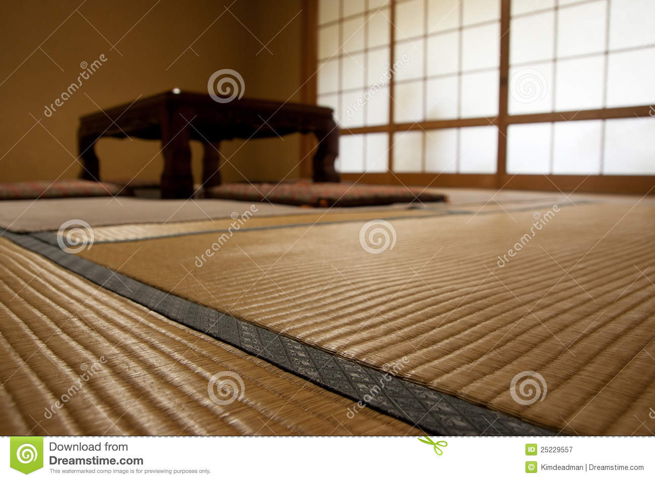 Japanese Room With Tatami Mats Stock Image Image Of