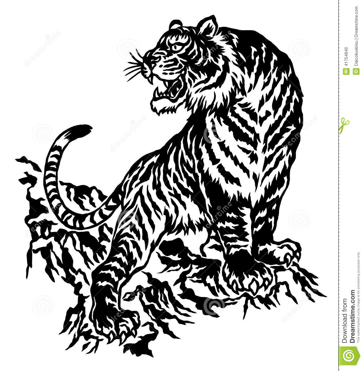 Japanese Tiger Stock Vector Illustration Of Asia