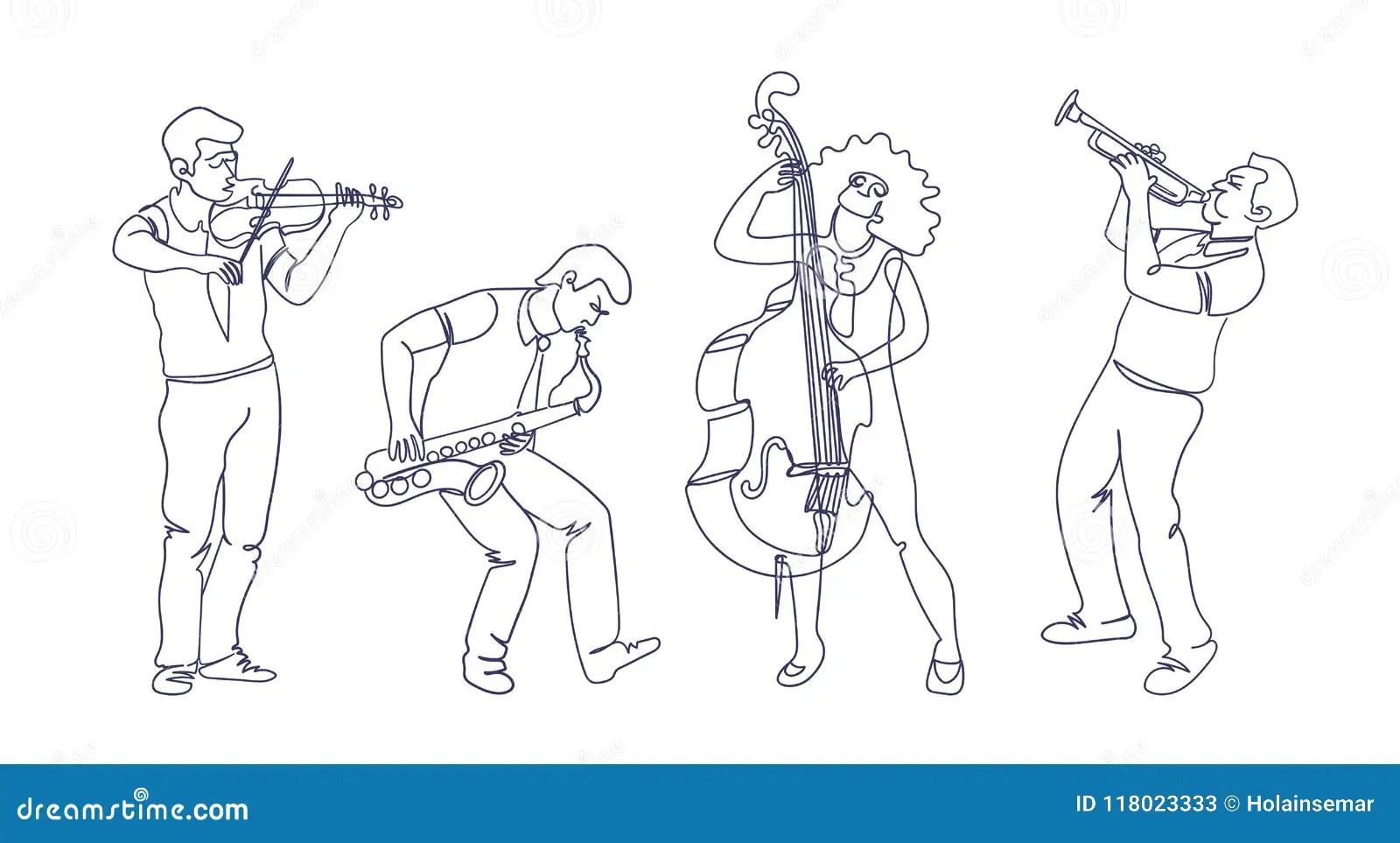 Hand Drawn Violin Vector Illustration Sketch Musical