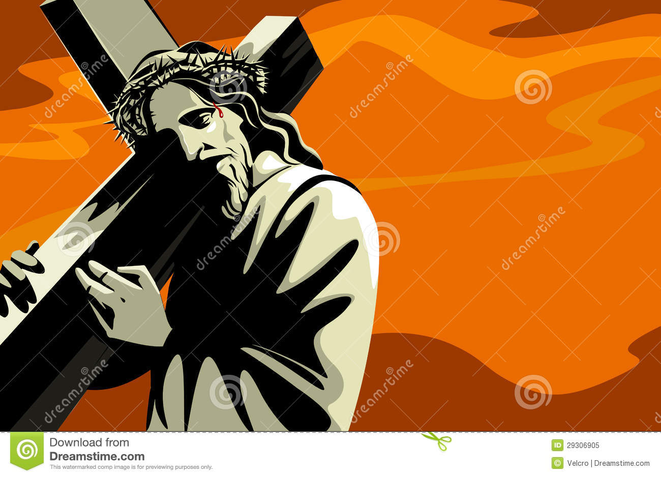 free clip art jesus carrying cross - photo #44
