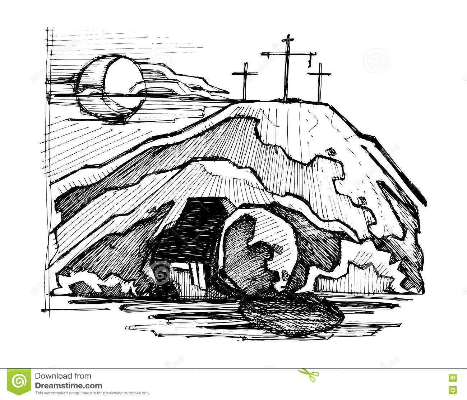 Jesus Tomb Stock Illustrations 374 Jesus Tomb Stock