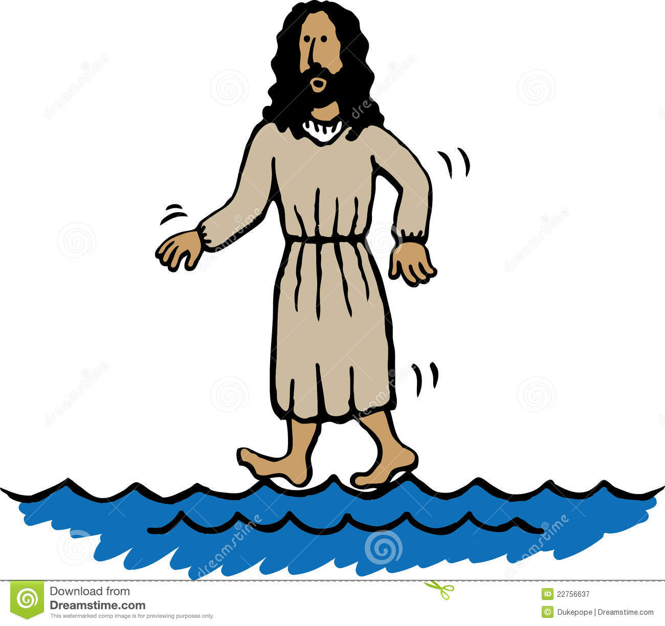 Jesus Walking On Water Royalty Free Stock Photography