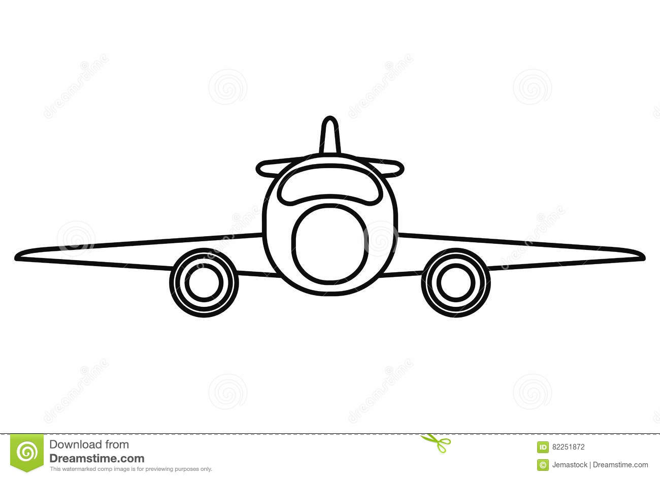 4 Engine Transport Plane
