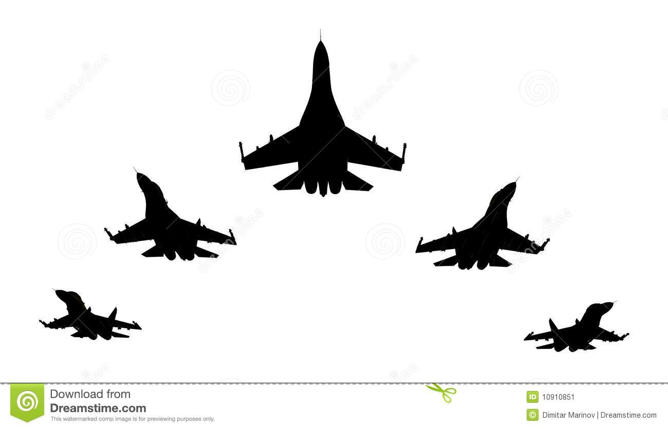 Jet Fighters Stock Illustration Illustration Of Flight