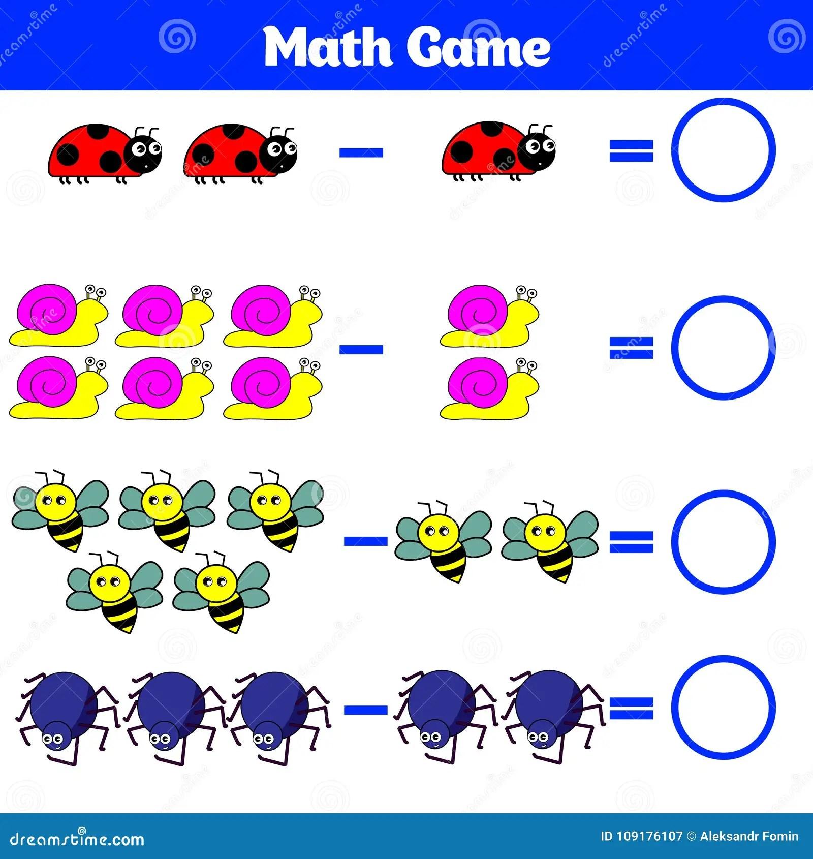 Jeu Educatif De Mathematiques Pour Des Enfants Apprenant