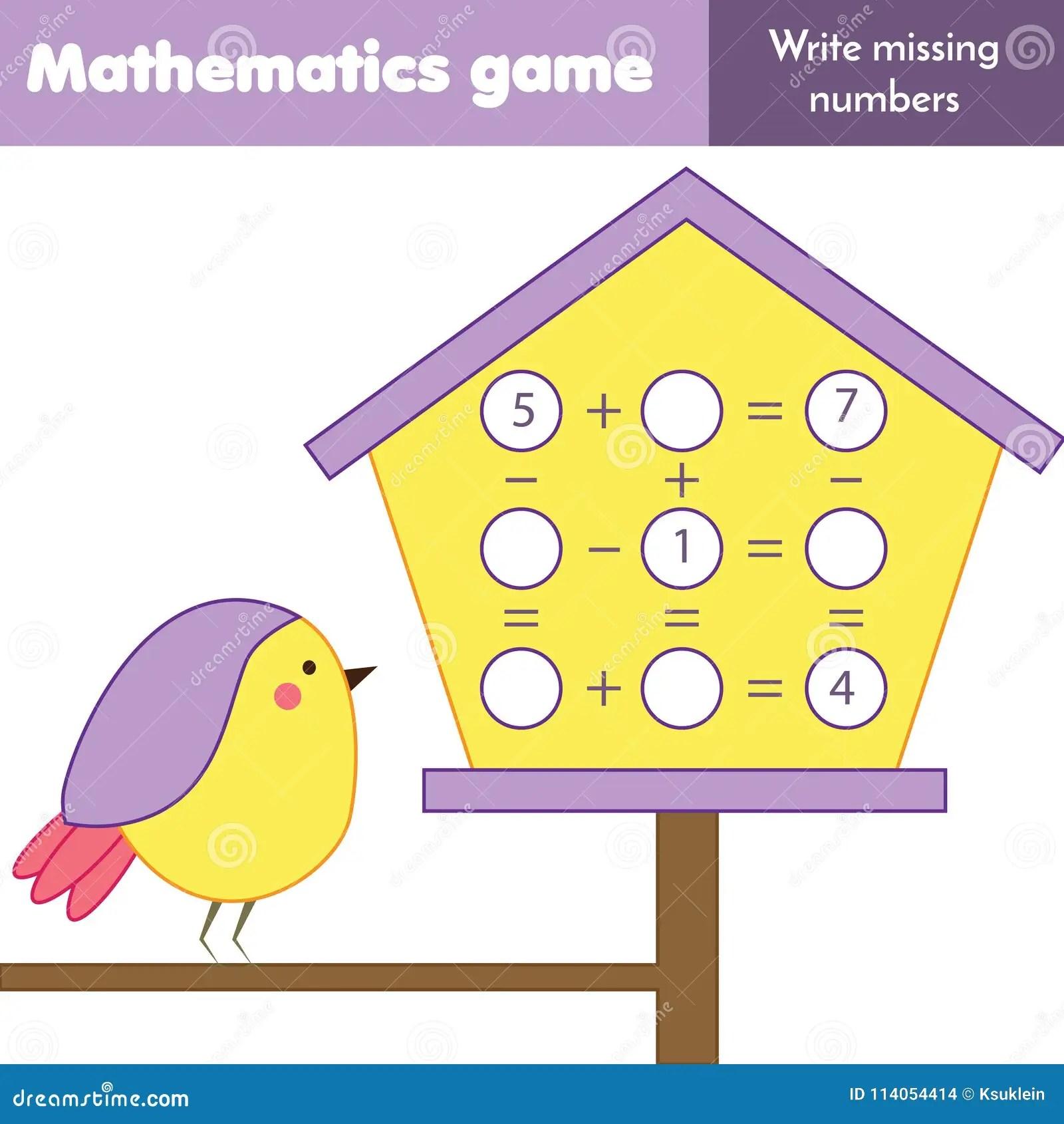 Jeu Educatif Pour Des Enfants Compte Des Equations