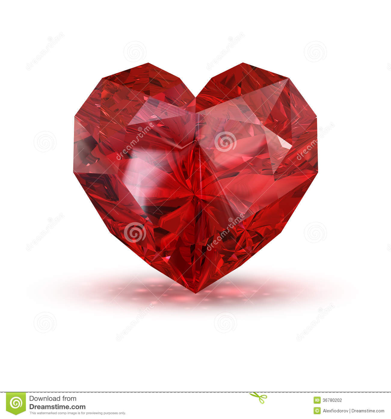 Jewel In The Shape Of Heart Stock Illustration Image