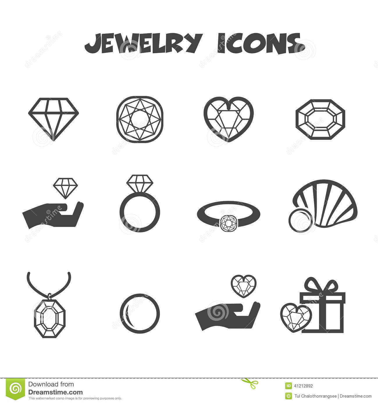 Jewelry Icons Stock Vector
