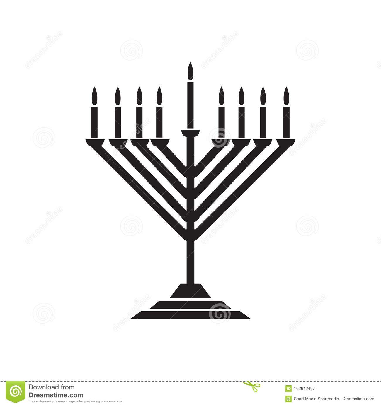 Hanukkah Menorah Stock Vector Illustration Of Chanukah