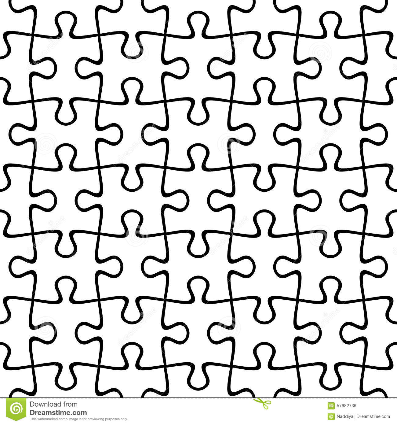 Jigsaw Puzzle Seamless Background Vector Illustration