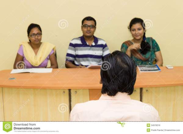 Job interview editorial photo. Image of recruiters ...