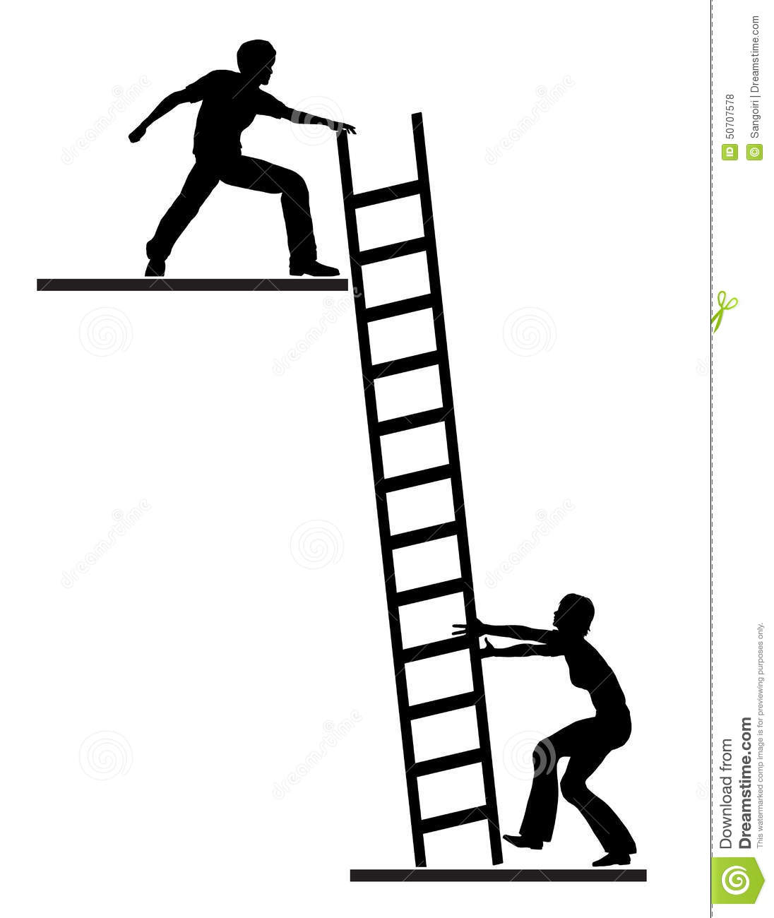 Graphic Climbing Ladder