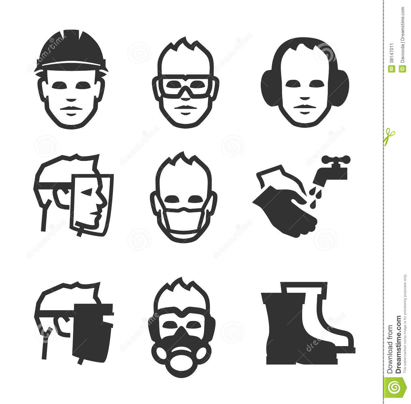 Job Safety Icons Stock Vector Illustration Of Occupation