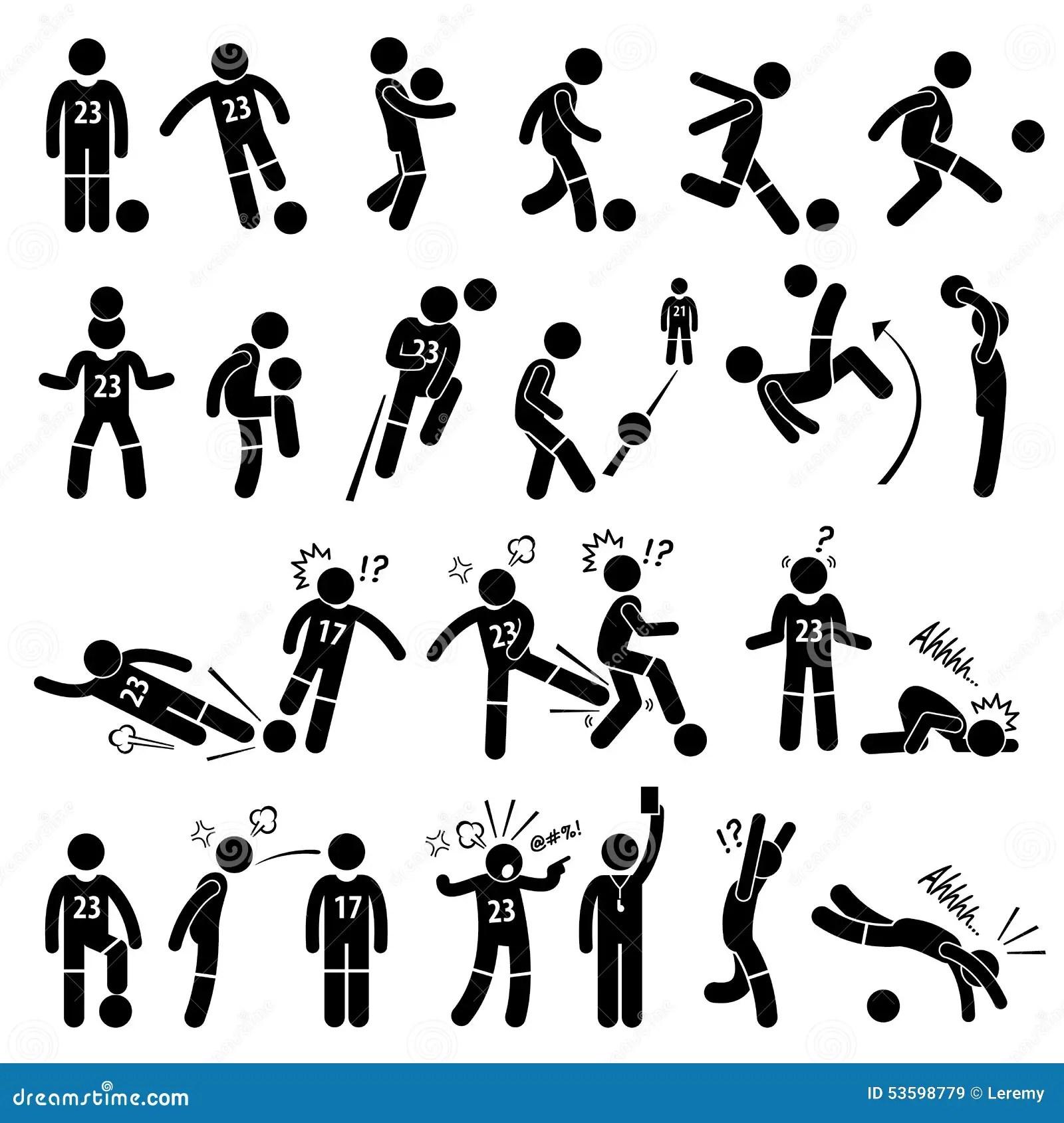 Jogador De Futebol Actions Poses Cliparts Do Jogador De