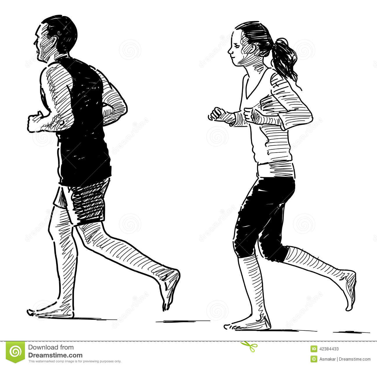 Jogging Couple Stock Image Image Of Exercise Young