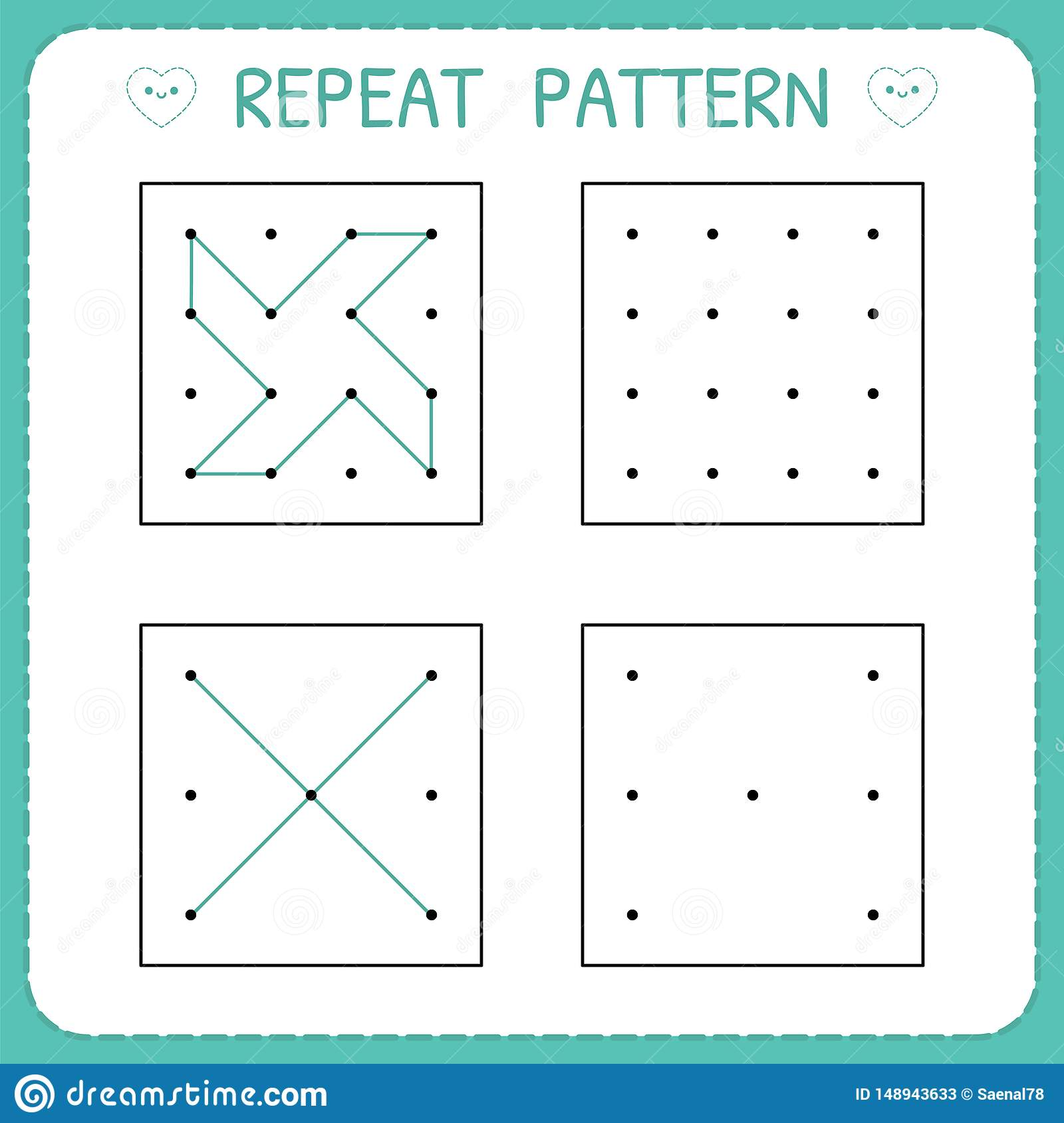 Kindergarten Educational Game For Kids Repeat Pattern
