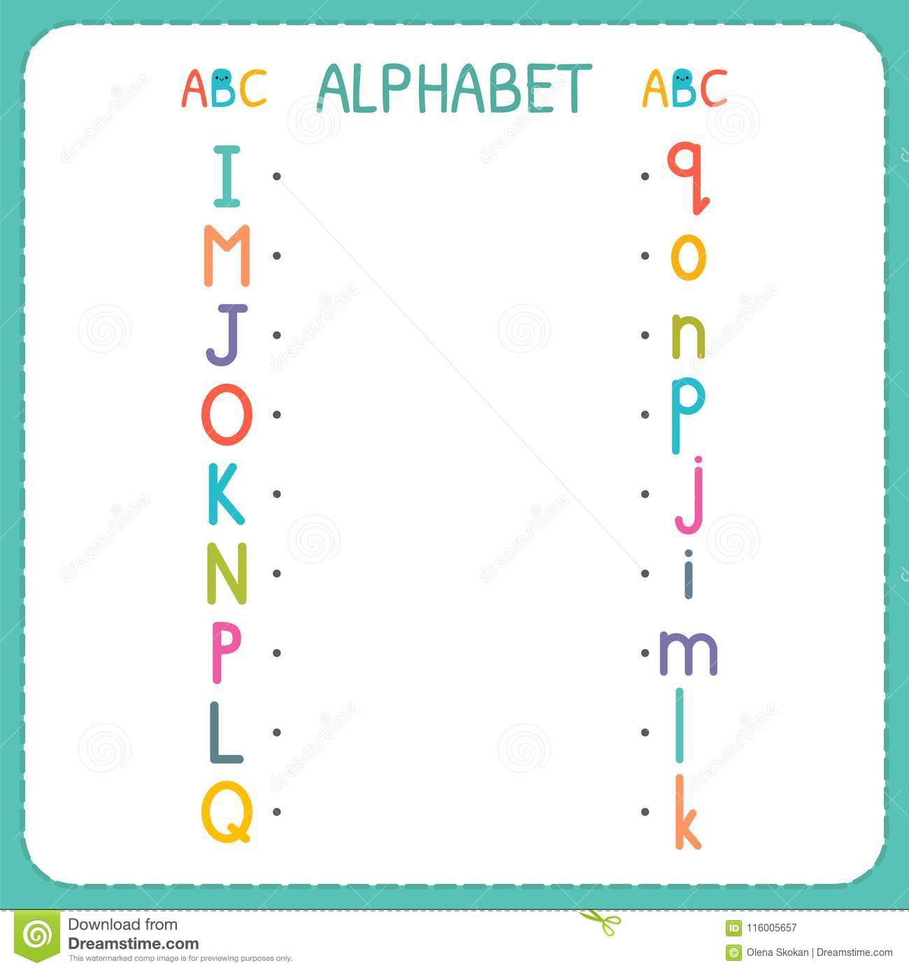 Join Each Capital Letter With The Lowercase Letter From I