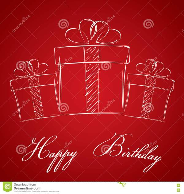 Joyeux Anniversaire Avec Le Boîte-cadeau Sur Un Fond Rouge ...