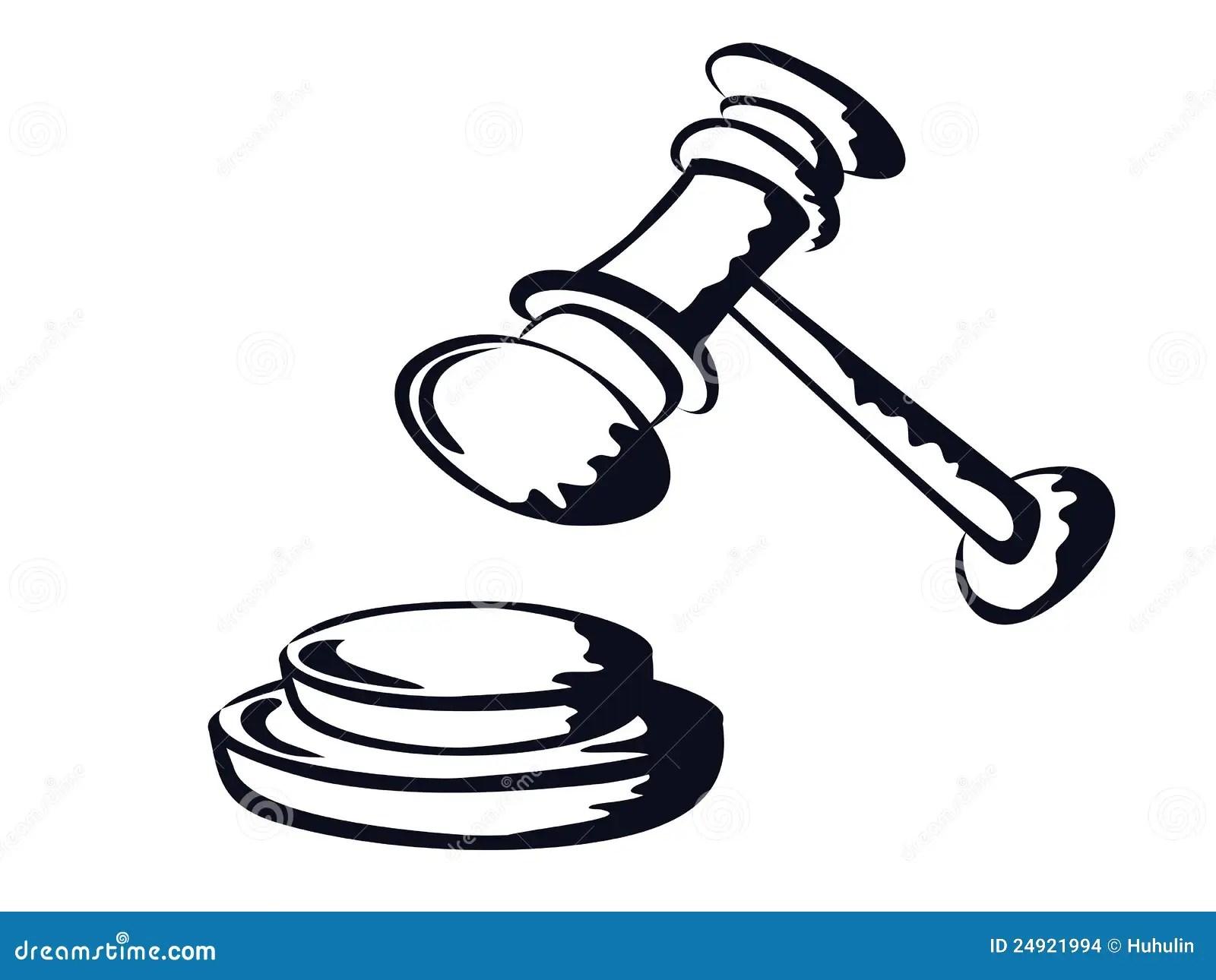 Judge Gavel Sketch Shape Vector From Stock Vector