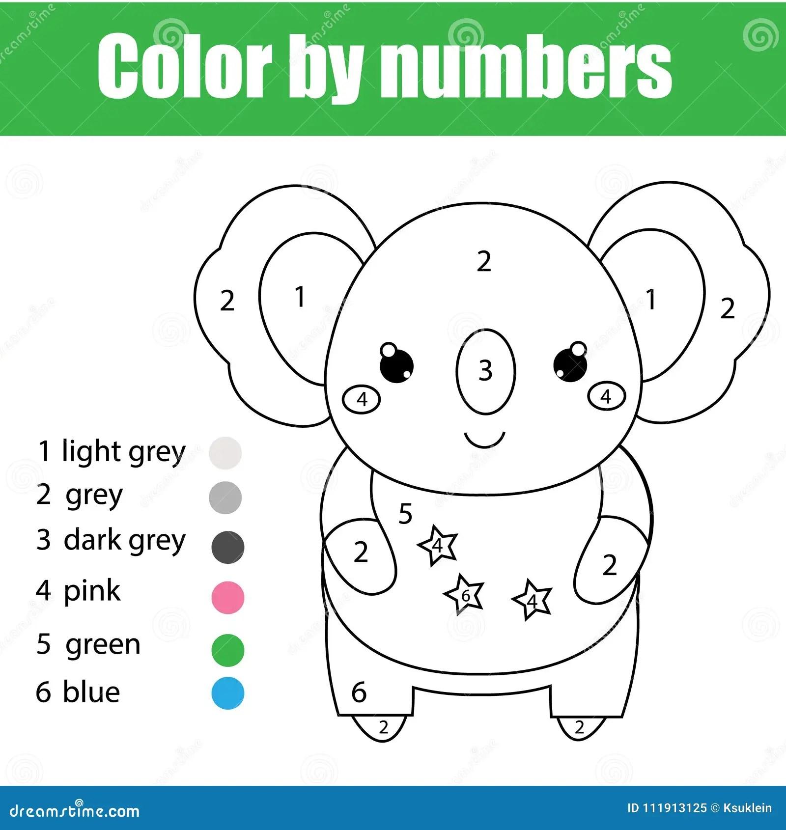 Kindergarten Worksheet Color Pink