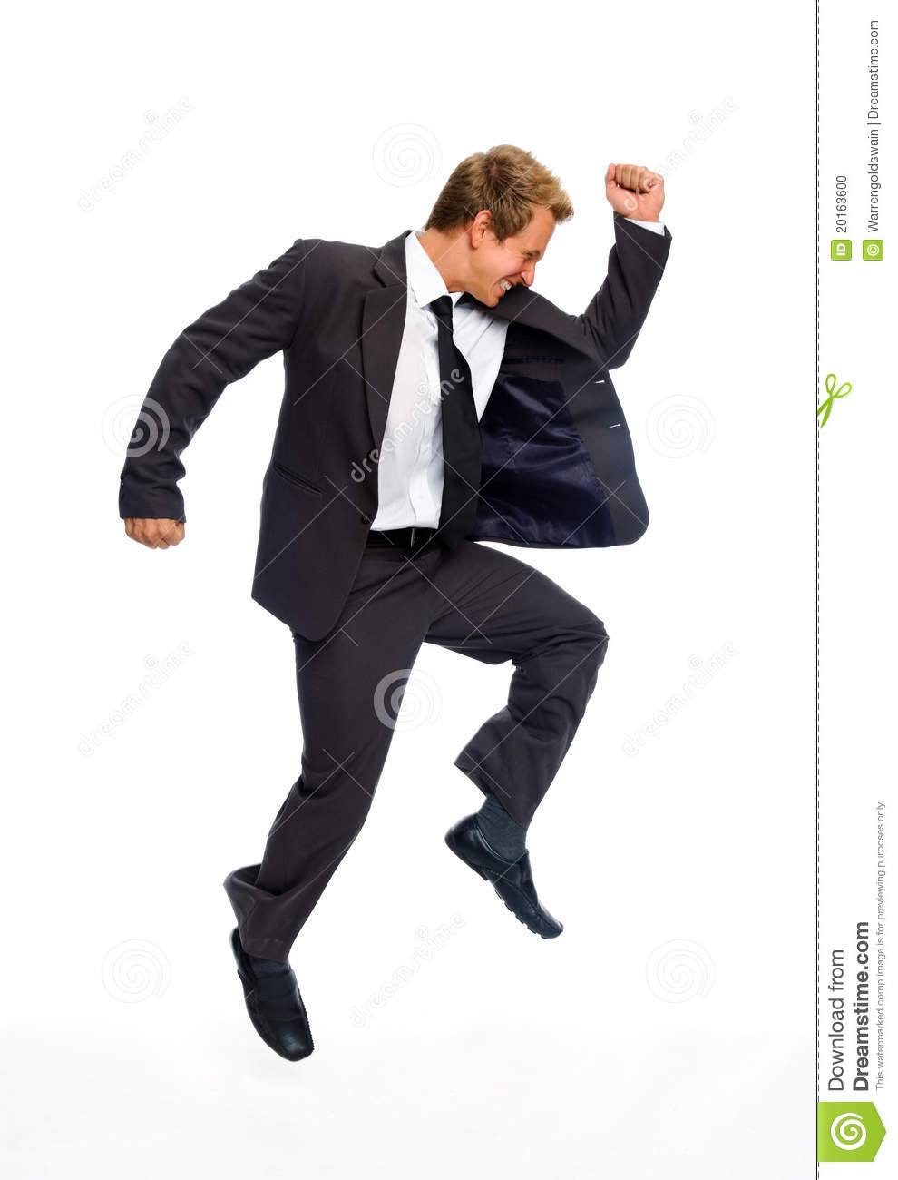 Jumping Businessman Stock Photo Image Of Businessperson
