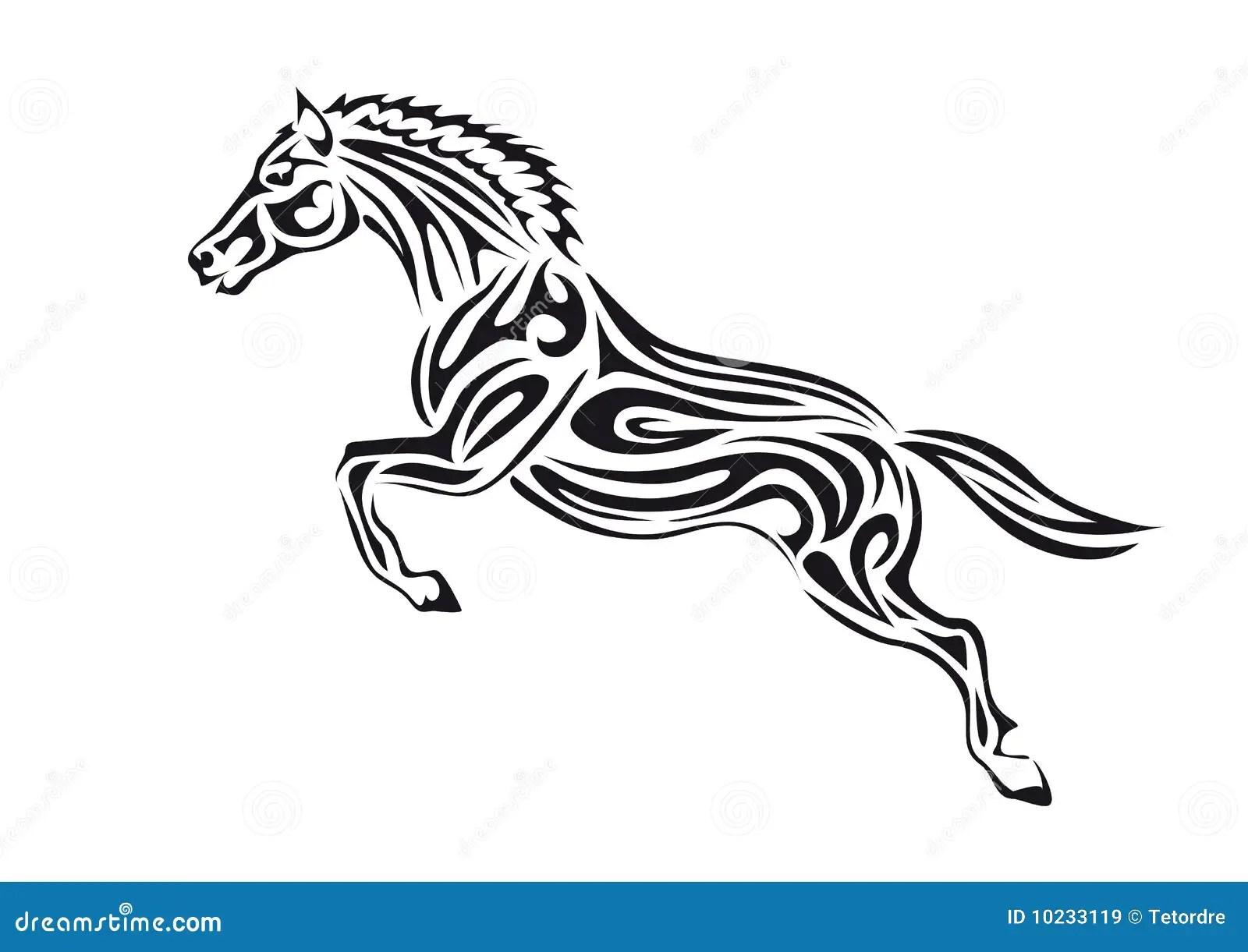 Jumping Horse Stock Illustration Illustration Of