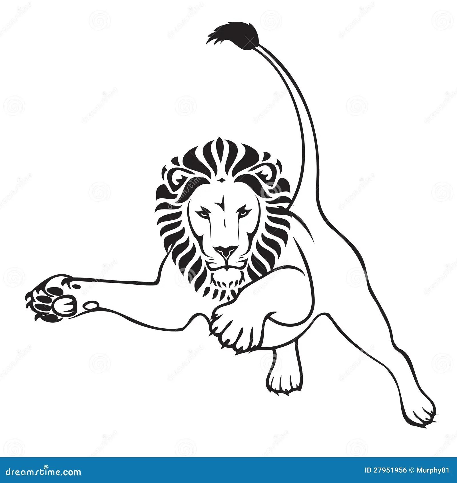 Jumping Lion Stock Vector Illustration Of Dominance