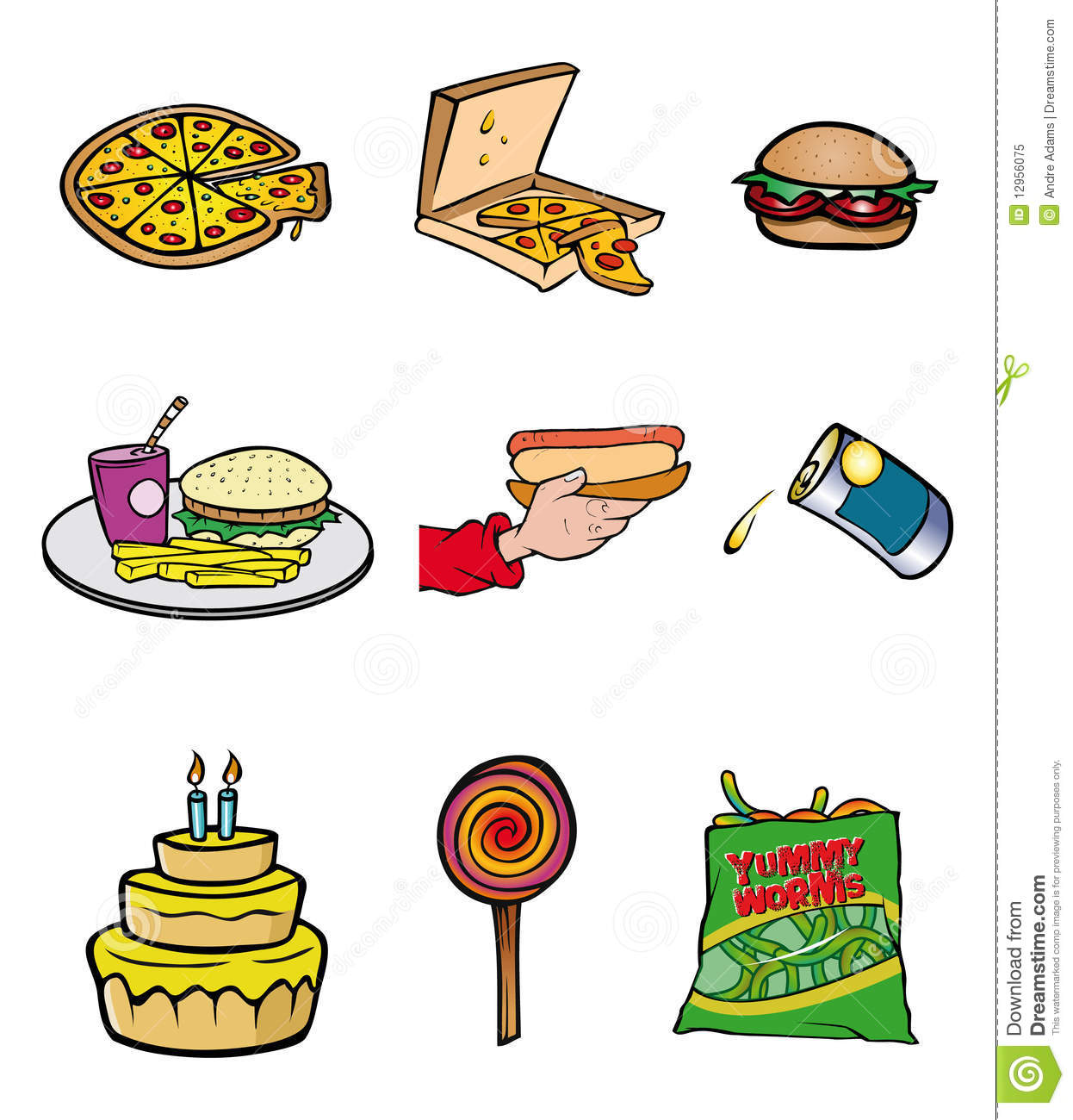 Junk Food Collection Royalty Free Stock Photo