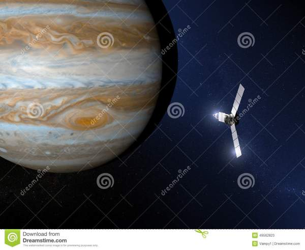 Jupiter And Juno Space Probe Stock Illustration Image 49562823