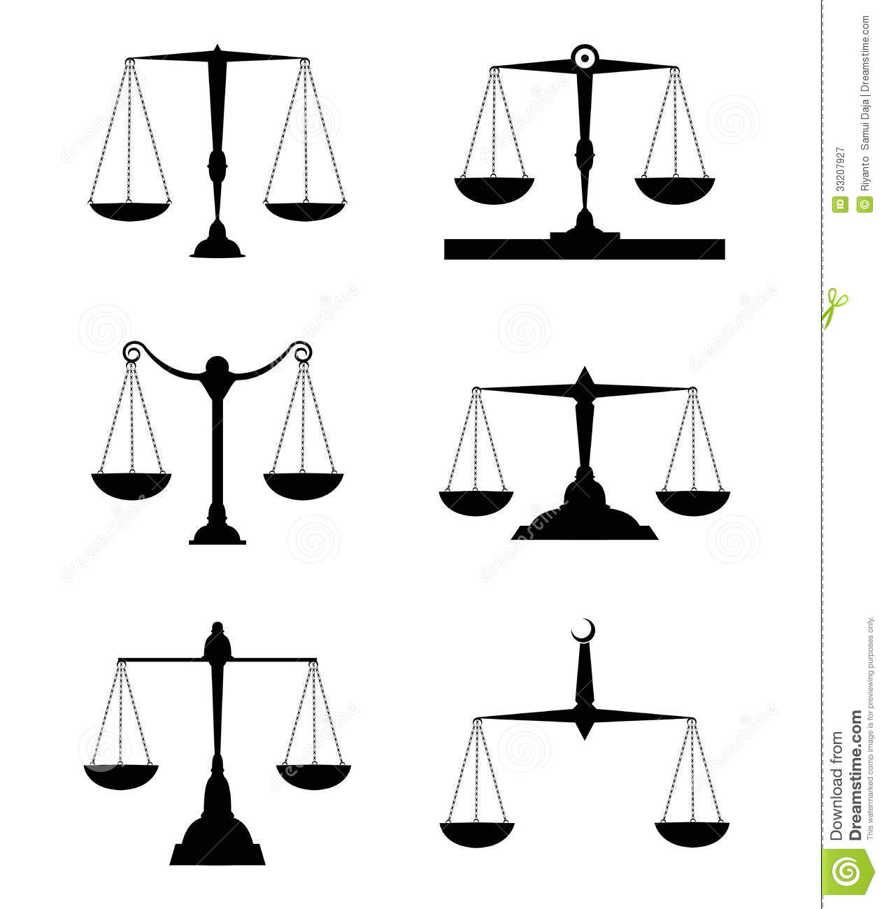Justice Scale Stock Illustration Illustration Of Isolated