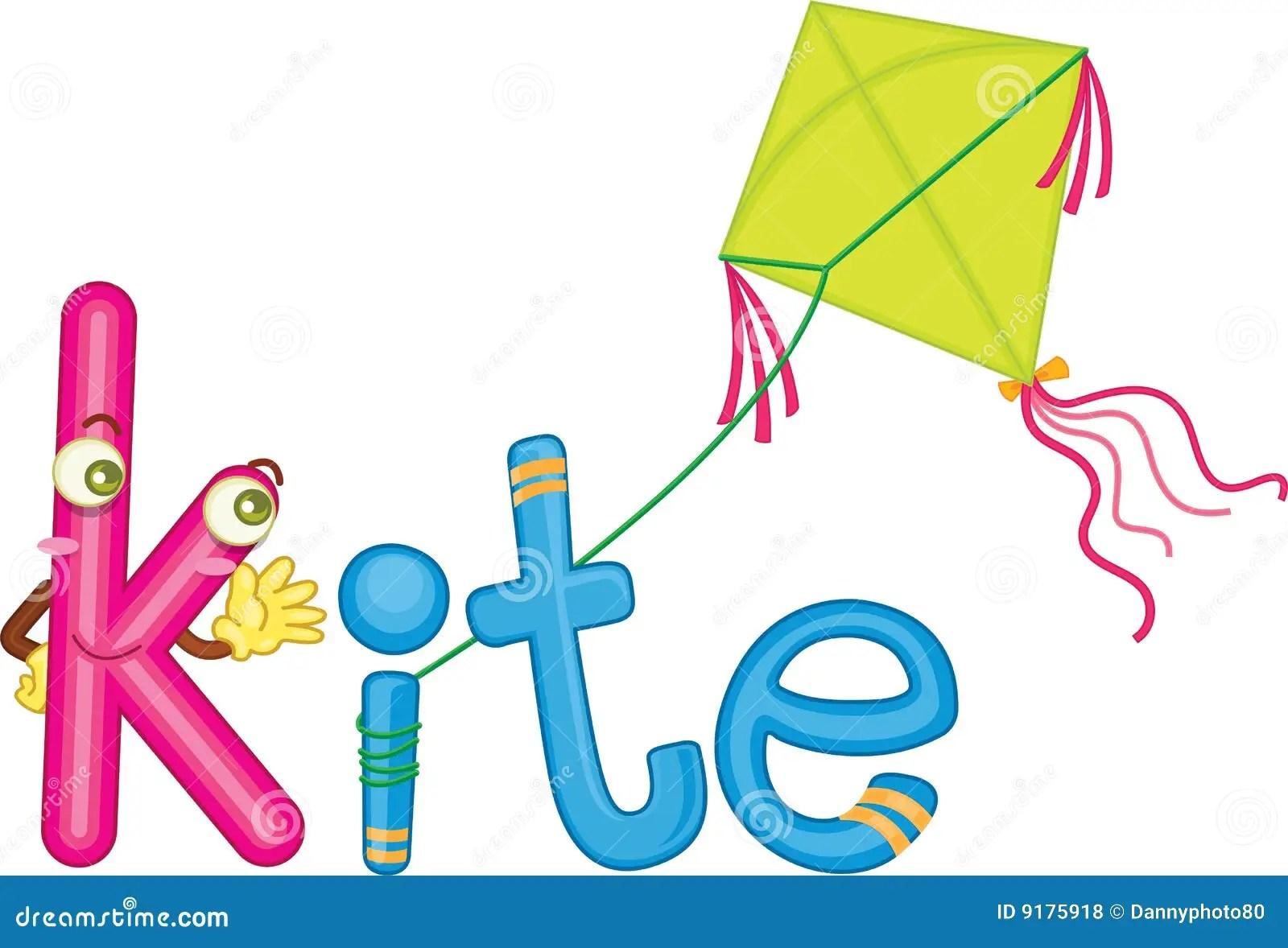 K For Kite Stock Illustration Illustration Of Phonics