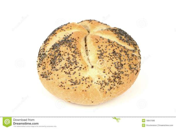 Kaiser Roll With Poppy Seeds Royalty Free Stock Image