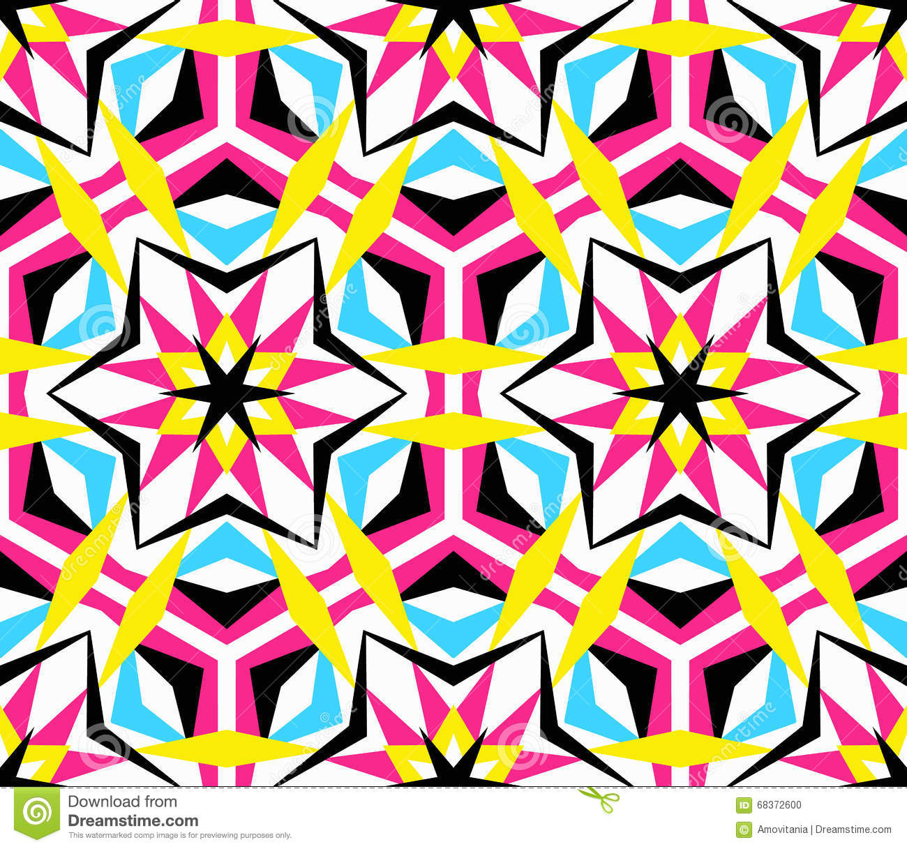 Kaleidoscope Star Pattern Stock Vector Illustration Of
