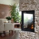 Kamin Im Modernen Wohnzimmer Stockfoto Bild Von Inside Raum 2543256