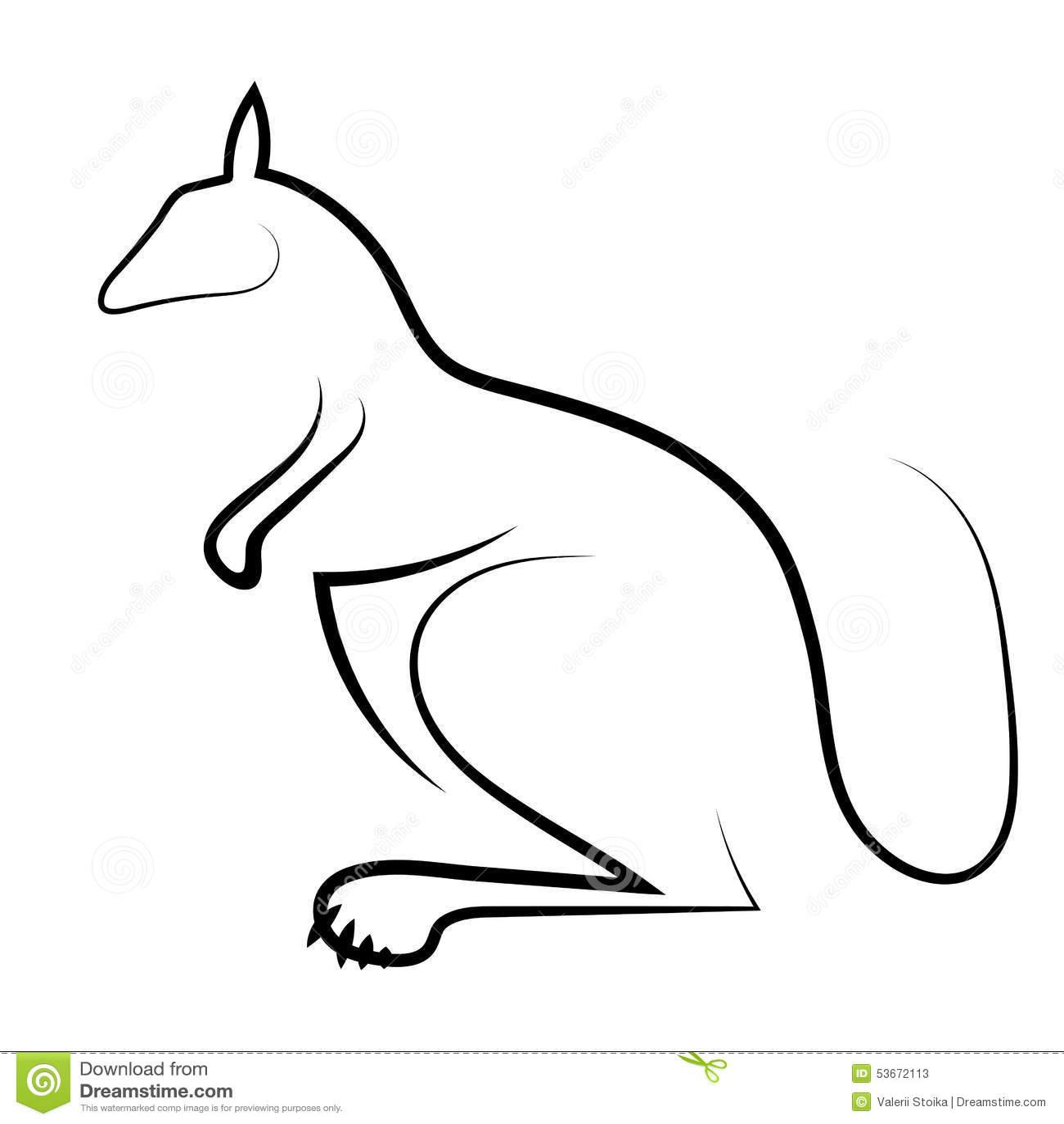 Kangaroo Icon Stock Vector