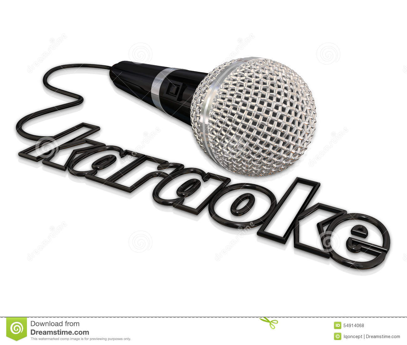 Karaoke Microphone Singing Fun Entertainment Event Stock
