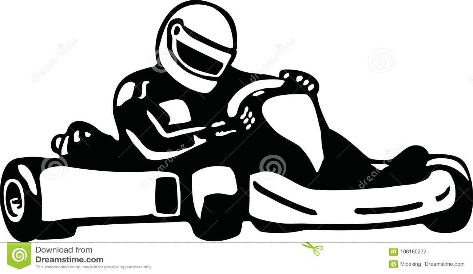 Kart Racer Stock Vector Illustration Of Silhouette