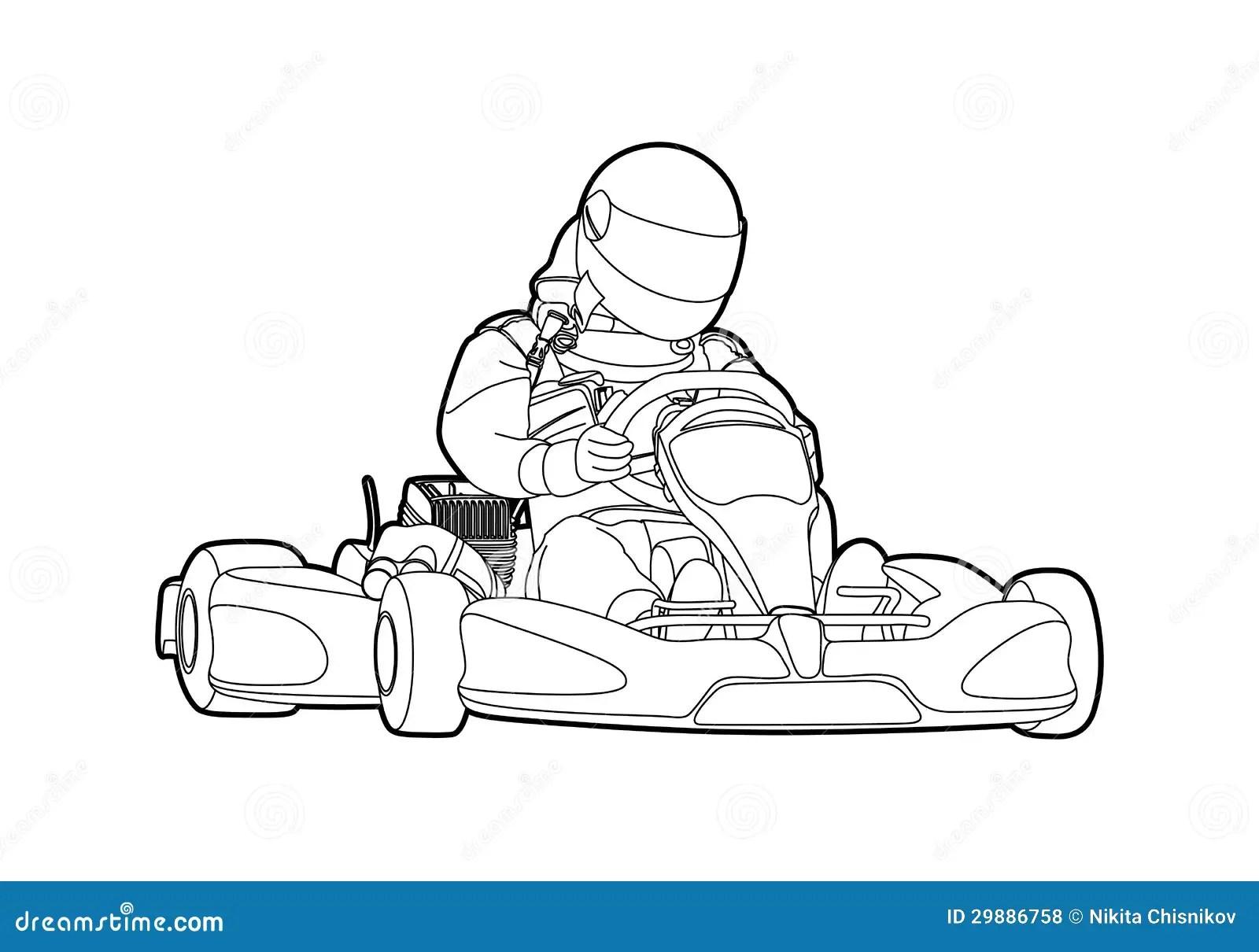 Karting Illustration De Vecteur Illustration Du Kart