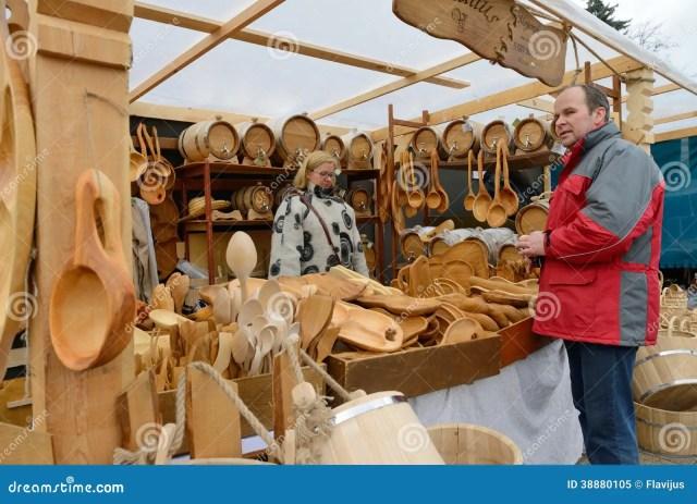 ... crafts fair - Kaziuko fair on Mar 8, 2014 in Vilnius, Lithuania