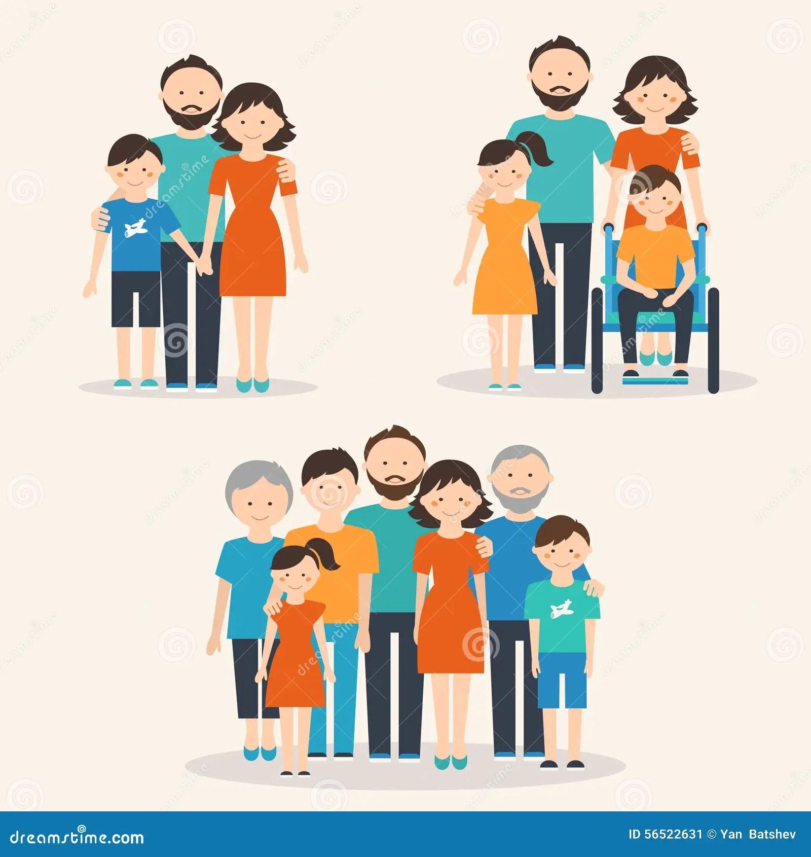 Kernfamilie Familie Met Speciaal Behoeftenkind En
