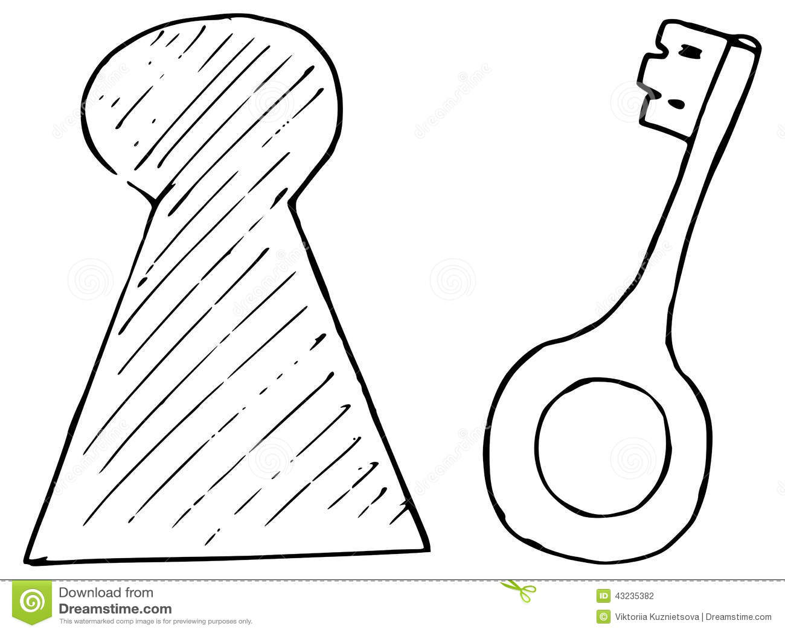 Key And Keyhole Stock Vector
