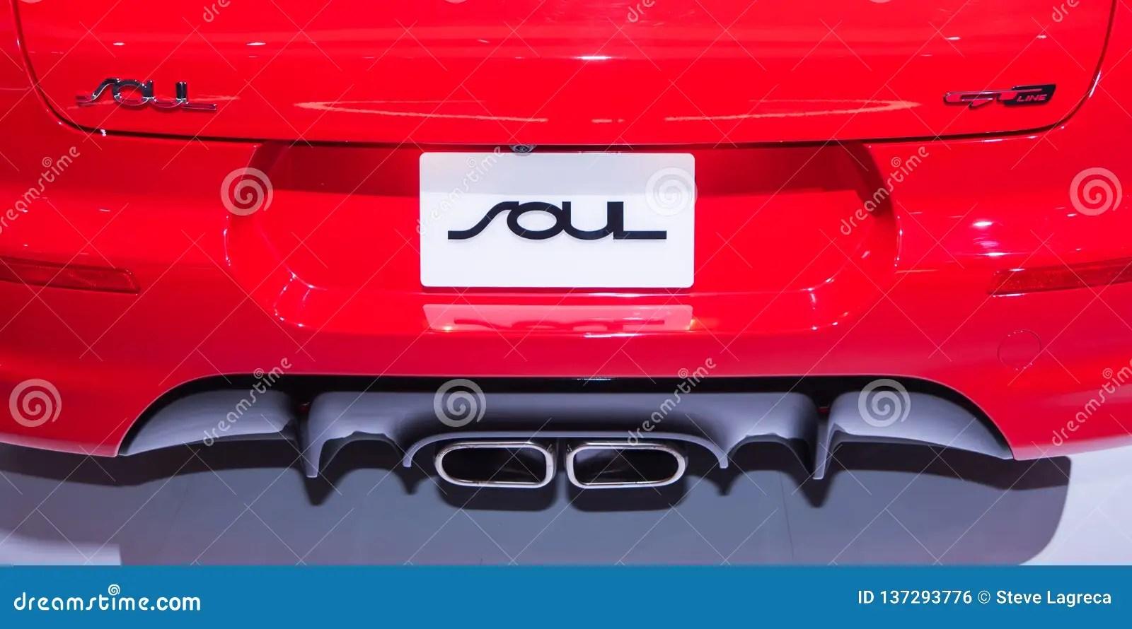 https www dreamstime com kia soul gt detroit mi usa january close up exhaust north american international auto show naias image137293776