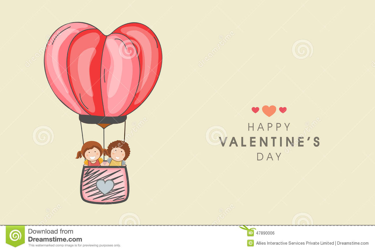 Kid Ride Hot Air Balloon For Valentines Day Celebration