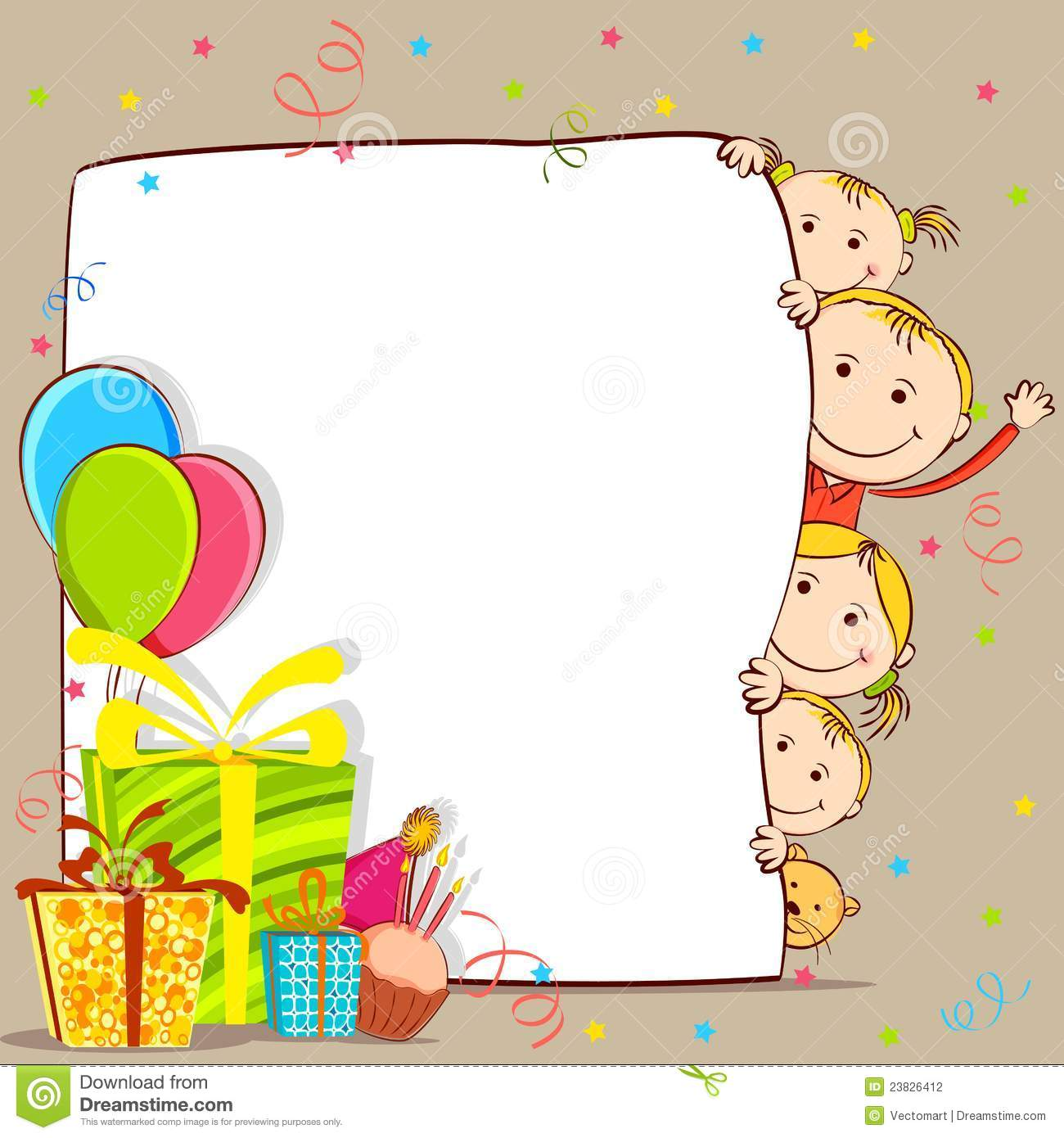 Kids Celebrating Birthday Stock Vector Image Of Fathers