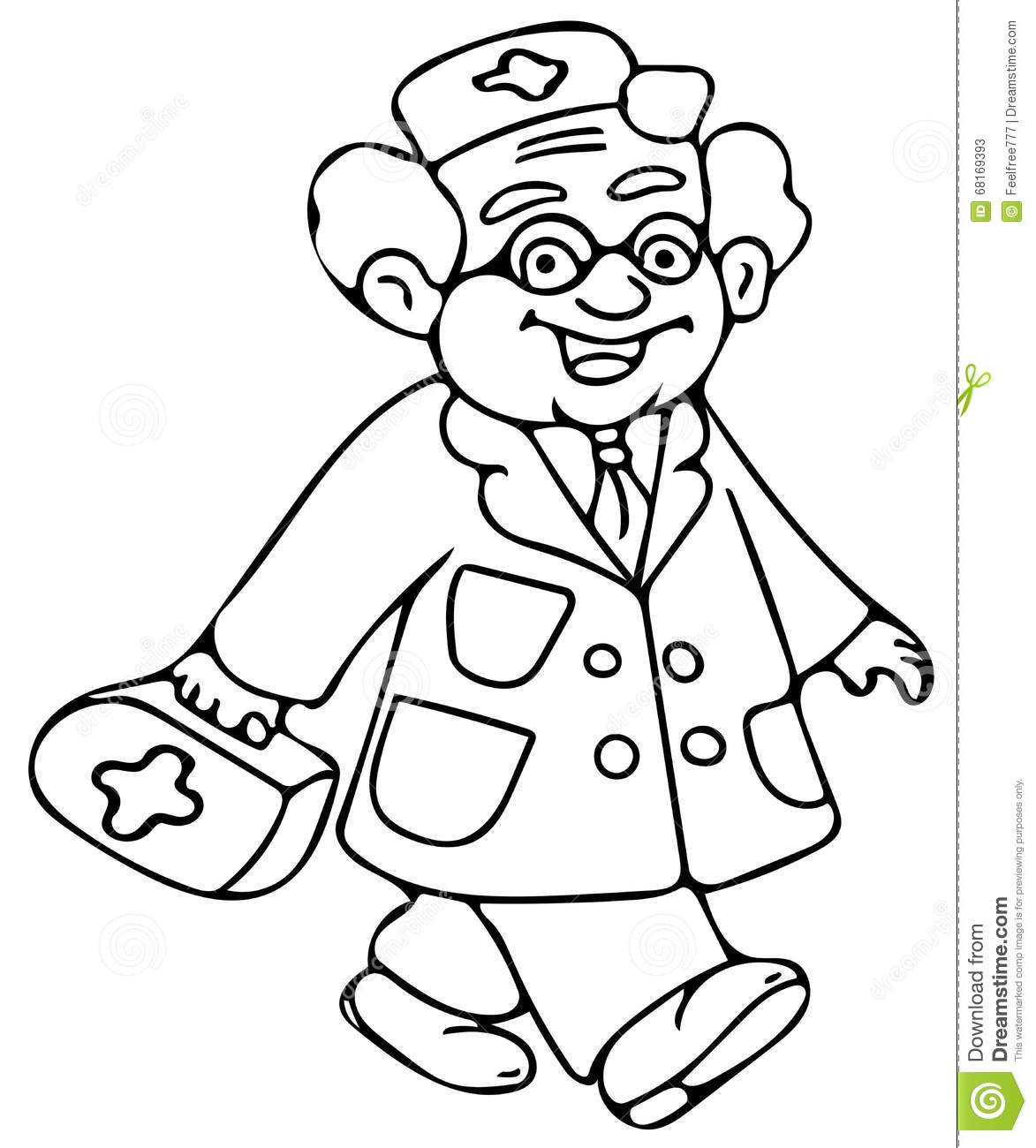 Stock Photos Kids Doctor Coloring Pages Image